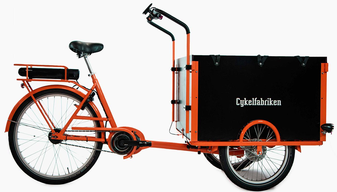 El-driven Lådcykel / Lådcykel med elmotor