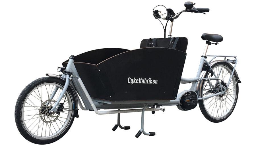 Bakfiets-Lång-med-Shimano-motor-silver