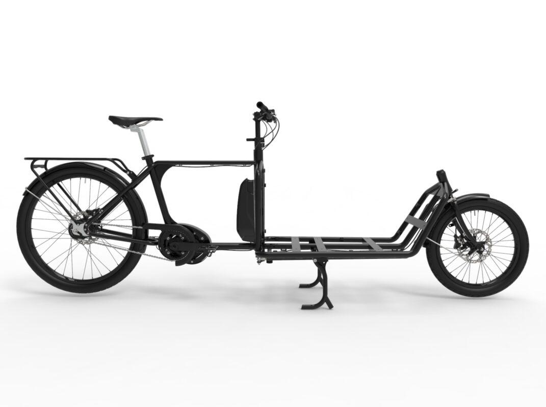 Sportii e-Lastcykel a fast Cargobike