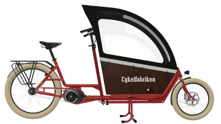 Bakfiets_Long_Full_bike_Carmine red_Raincover