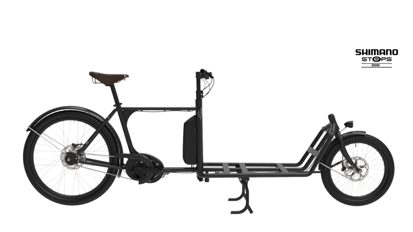 Lastcykel Sportii sTeps motor Black