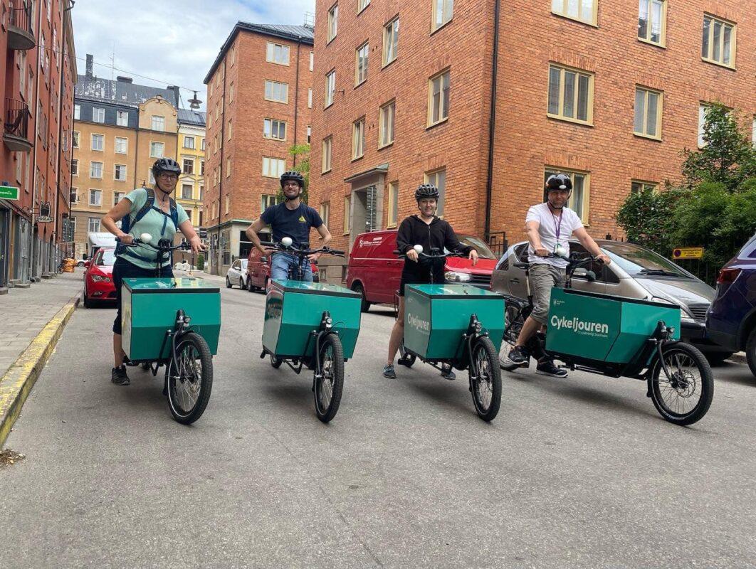 Stockholmstad cykeljouren lastcyklar